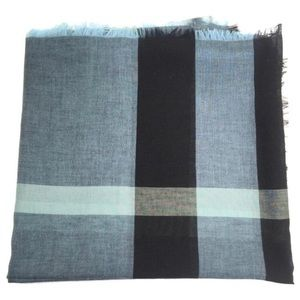 Burberry Slate Blue mega check scarf/wrap